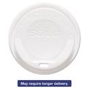 SOLO Cup SCCLGXW2 Gourmet Hot Cup Lids, For Trophy Plus Cups, 12-16 Oz, White, 1500/carton