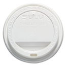 SOLO Cup SCCOFTL160007 Traveler Drink-Thru Lid, 12-16oz Hot Cups, White, 50/pack, 6 Packs/carton