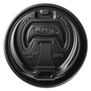 SOLO Cup SCCOPT316B Optima Reclosable Lids For Paper Hot Cups For 10-24 Oz Cups, Black, 1000/carton