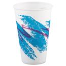 SOLO Cup SCCR12NJ Jazz Waxed Paper Cold Cups, 12oz, Tide Design, 2000/carton