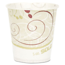 SOLO Cup SCCR53SYMCT Paper Water Cups, Waxed, 5oz, 100/bag, 30 Bags/carton