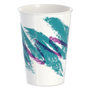 Dart SCCRNP16PJ Double Sided Poly Paper Cold Cups, 16 oz, Jazz Design, White/Green/Purple, 50/Pack, 20 Packs/Carton