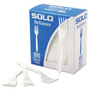 SOLO Cup SCCRSWFX Boxed Reliance Mediumweight Cutlery, Fork, White, 1000/carton