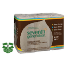 Seventh Generation SEV 13737 Natural Unbleached 100% Recycled Paper Towel Rolls, 11 x 9, 120 SH/RL, 24 RL/CT