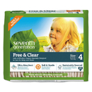 Seventh Generation 44063 Free and Clear Baby Diapers, Size 4, 22 lbs to 32 lbs, 108/Carton