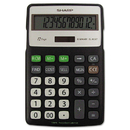 Sharp SHRELR287BBK El-R287bbk Recycled Series Calculator W/kickstand, 12-Digit Lcd