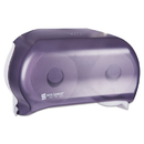 San Jamar SJMR3600TBK Versatwin Tissue Dispenser, 8 X 5 3/4 X 12 3/4, Transparent Black Pearl