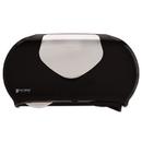San Jamar R4070BKSS Twin Jumbo Bath Tissue Dispenser, 20 1/14x5 7/8x11 9/10, Blk/Faux Stainless Steel