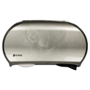 San Jamar R4070SS Twin Jumbo Bath Tissue Dispenser, 19 1/4 x 6 x 12 1/4, Faux Stainless Steel