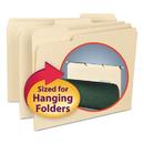 SMEAD MANUFACTURING CO. SMD10230 Interior File Folders, 1/3 Cut Top Tab, Letter, Manila, 100/box