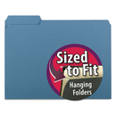 SMEAD MANUFACTURING CO. SMD10239 Interior File Folders, 1/3 Cut Top Tab, Letter, Blue, 100/box