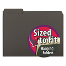SMEAD MANUFACTURING CO. SMD10243 Interior File Folders, 1/3 Cut Top Tab, Letter, Black, 100/box
