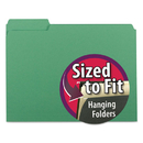 SMEAD MANUFACTURING CO. SMD10247 Interior File Folders, 1/3 Cut Top Tab, Letter, Green, 100/box