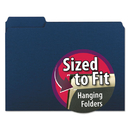 SMEAD MANUFACTURING CO. SMD10279 Interior File Folders, 1/3 Cut Top Tab, Letter, Navy, 100/box