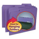 SMEAD MANUFACTURING CO. SMD10283 Interior File Folders, 1/3 Cut Top Tab, Letter, Purple, 100/box
