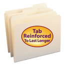 SMEAD MANUFACTURING CO. SMD10334 File Folders, 1/3 Cut Assorted, Reinforced Top Tab, Letter, Manila, 100/box
