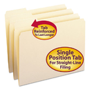 SMEAD MANUFACTURING CO. SMD10335 File Folder, 1/3 Cut First Position, Reinforced Top Tab, Letter, Manila, 100/box