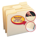 SMEAD MANUFACTURING CO. SMD10343 Watershed/cutless File Folders, 1/3 Cut Top Tab, Letter, Manila, 100/box