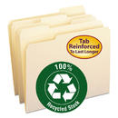 SMEAD MANUFACTURING CO. SMD10347 Two-Ply File Folders, 1/3 Cut Top Tab, Letter, Manila, 100/box