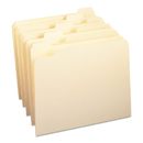 SMEAD MANUFACTURING CO. SMD10350 File Folders, 1/5 Cut, One-Ply Top Tab, Letter, Manila, 100/box