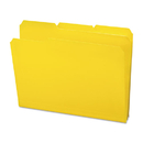 Smead SMD10504 Waterproof Poly File Folders, 1/3 Cut Top Tab, Letter, Yellow, 24/box