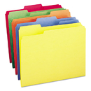 SMEAD MANUFACTURING CO. SMD11943 File Folders, 1/3 Cut Top Tab, Letter, Bright Assorted Colors, 100/box