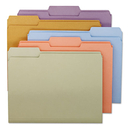 SMEAD MANUFACTURING CO. SMD11953 File Folders, 1/3 Cut Top Tab, Letter, Assorted Colors, 100/box