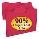 SMEAD MANUFACTURING CO. SMD11983 Supertab Colored File Folders, 1/3 Cut, Letter, Red, 100/box