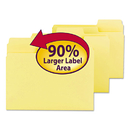 SMEAD MANUFACTURING CO. SMD11984 Supertab Colored File Folders, 1/3 Cut, Letter, Yellow, 100/box