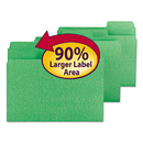 SMEAD MANUFACTURING CO. SMD11985 Supertab Colored File Folders, 1/3 Cut, Letter, Green, 100/box