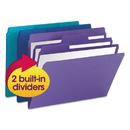 Smead SMD11989 Supertab Organizer Folder, 1/3 Cut Top Tab, Assorted, 3/pack