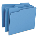 SMEAD MANUFACTURING CO. SMD12043 File Folders, 1/3 Cut Top Tab, Letter, Blue, 100/box