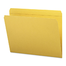 SMEAD MANUFACTURING CO. SMD12210 File Folders, Straight Cut, Reinforced Top Tab, Letter, Goldenrod, 100/box