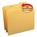 SMEAD MANUFACTURING CO. SMD12234 File Folders, 1/3 Cut, Reinforced Top Tab, Letter, Goldenrod, 100/box