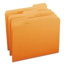 SMEAD MANUFACTURING CO. SMD12543 File Folders, 1/3 Cut Top Tab, Letter, Orange, 100/box