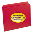 SMEAD MANUFACTURING CO. SMD12710 File Folders, Straight Cut, Reinforced Top Tab, Letter, Red, 100/box
