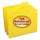 SMEAD MANUFACTURING CO. SMD12934 File Folders, 1/3 Cut, Reinforced Top Tab, Letter, Yellow, 100/box