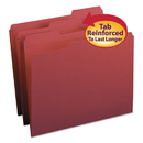 SMEAD MANUFACTURING CO. SMD13084 File Folders, 1/3 Cut, Reinforced Top Tab, Letter, Maroon, 100/box