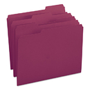 SMEAD MANUFACTURING CO. SMD13093 File Folders, 1/3 Cut Top Tab, Letter, Maroon, 100/box