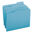 SMEAD MANUFACTURING CO. SMD13143 File Folders, 1/3 Cut Top Tab, Letter, Teal, 100/box
