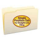 SMEAD MANUFACTURING CO. SMD15331 File Folders, 1/3 Cut First Position, One-Ply Top Tab, Legal, Manila, 100/box