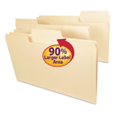 SMEAD MANUFACTURING CO. SMD15395 Supertab Guide Height Reinforced Folders, Top Tab, Legal, Manila, 100/box