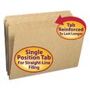 SMEAD MANUFACTURING CO. SMD15710 Kraft File Folders, Straight Cut, Reinforced Top Tab, Legal, Kraft, 100/box