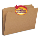 SMEAD MANUFACTURING CO. SMD15734 Kraft File Folders, 1/3 Cut, Reinforced Top Tab, Legal, Kraft, 100/box