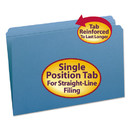 SMEAD MANUFACTURING CO. SMD17010 File Folders, Straight Cut, Reinforced Top Tab, Legal, Blue, 100/box