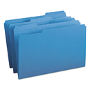 SMEAD MANUFACTURING CO. SMD17043 File Folders, 1/3 Cut Top Tab, Legal, Blue, 100/box