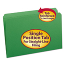SMEAD MANUFACTURING CO. SMD17110 File Folders, Straight Cut, Reinforced Top Tab, Legal, Green, 100/box