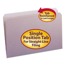 SMEAD MANUFACTURING CO. SMD17410 File Folders, Straight Cut, Reinforced Top Tab, Legal, Lavender, 100/box