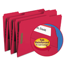 SMEAD MANUFACTURING CO. SMD17740 Folders, Two Fasteners, 1/3 Cut Assorted, Top Tab, Legal, Red, 50/box