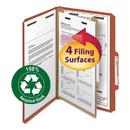 Smead SMD18723 Pressboard Classification Folder, 1 Divider, 2